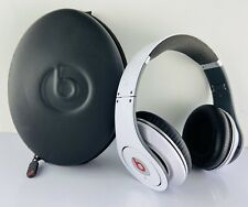 Beats Monster Studio by Dr Dre White 1st Gen. w/ Case ~ NO WIRE ~ TESTED