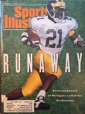 Desmond Howard Signed Sports Illustrated 12/1/91 Issue Michigan Heisman NCAA NFL