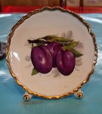 Ancienne Miniature porcelaine de France Fruits Quetsche prune pruneaux vintage