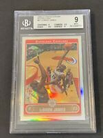 2006 Topps Chrome Refractor LeBron James BGS 9 MINT -.5 Away GEM MINT