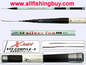 36ft Fishing Pole Rod Telescopic 12 sections 98% SVFcarbon manufactured in Japan