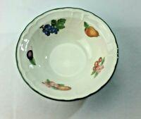 """Details about  /VTG Round Vegetable Serving Bowl 9/"""" Epoch Market Days Fruit Motif Green Border"""