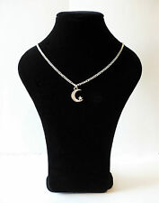 UK Seller Lovely Silver Plated Moon and Star Stars Pendant Necklace Gift