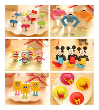 1PC Chic Cute Adorable Cartoon Rubber Eraser Pencil Stationery Children Gift