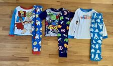 Lot Of 6 Boy's Pajamas Size 6-8 Capitan Underpants, Superheroes Very Good