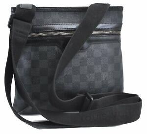 Auth Louis Vuitton Damier Graphite Tomas Shoulder Cross Body Bag N58028 LV D5128