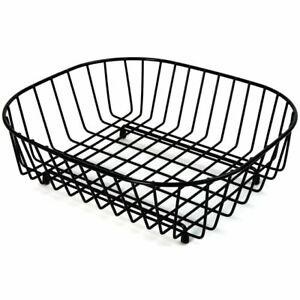 Delfinware Oval Sink Basket Black 2947BK