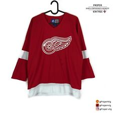 Vtg Starter Detroit Red Wings Red Home Nhl Jersey YOUTH Size L/XL