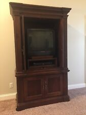 Armoire/Media Center Dark Cherry Solid Wood, Used