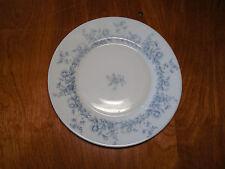 """Arcopal France GLENWOOD Set of 4 Salad Plates 7 3/4"""" Blue Flowers Rimmed"""