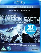 DR WHO  1966 INVASION EARTH 2150 AD. RESTORED Doctor Peter Cushing Movie BLU-RAY