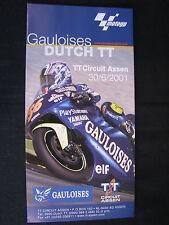 Flyer Gauloises Dutch TT ( Assen ) 30 June 2001 (TTC)