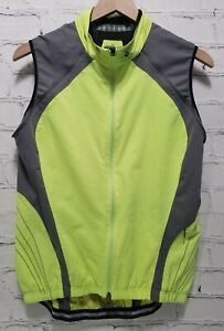SPECIALIZED Cycling Wind Jacket Vest Lightweight Packable Yellow Women Large A33
