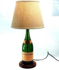 Vintage Gold Seal Brut 1950s New York Green Champagne Bottle Accent Table Lamp