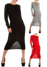 Langarm Damenkleider aus Baumwolle für die Freizeit