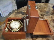 Hamilton model 22 Ships chronometer restored:box, brass, and movement overhauled