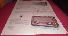 prospekt blatt grundig musik gerät koffer radio boy werbung reklame 1958 alt