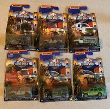 Set of 6 Matchbox Jurassic World Legacy Collection
