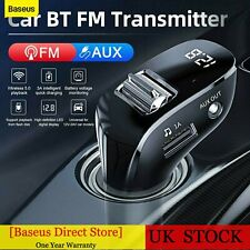 More details for baseus dual usb charger bluetooth 5.0 wireless car fm transmitter kit mp3 player