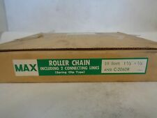 "NEW MAX ANSI C-2060R 10'FT ROLLER CHAIN 1-1/2""X1/2"""