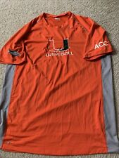 university of miami baseball team issued nike fit shirt acc