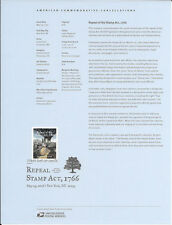 #1615 (47c) Forever Repeal of the Stamp Act, 1766 #5064 Souvenir Page