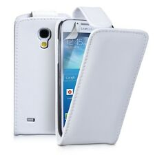 WHITE Leather Flip Case Cover with Card Slots&clip for Samsung Galaxy S4 UK POST