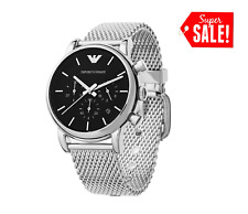 *NEW* EMPORIO ARMANI AR1811 MEN'S MESH LUIGI WATCH - £249.00 GIFT FOR HIM UK
