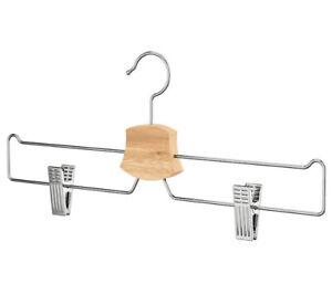 IKEA Bumerang Wood/ Metal Skirt Trouser Hangers  X10