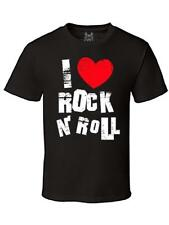 NW MENS PRINTED GRAPHIC DESIGN I HEART ROCK AND ROLL CUTE FUNNY ART TSHIRT TEE