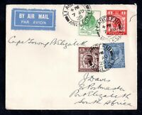 GB KGV 1929 PUC Airmail Cover to South Africa WS19000
