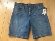 New Chaps Denim Jean Denim Shorts Ladies Size 6 Stretch Comfort NWT