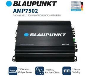 BLAUPUNKT 750 Watts Max 2 Channel Class A/B Full Range Car Stereo Amp AMP7502