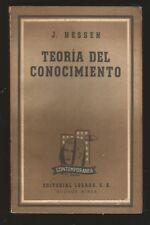 J  Hessen Book Teoria Del Conocimiento 1956 Losada