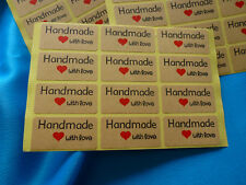 36 Stickers HANDMADE LOVE  for hand-made project candles soap melts bakery etc.