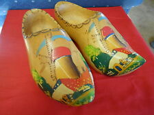 "Great Collectable Handcarved Pair Dutch Wood Shoes .11.5"" length.Sale"