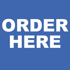 """Order Here Sign 8"""" x  8"""""""