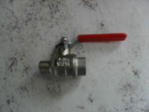 "Lever Handle Ball Valve  1/4"" M/F   5no."