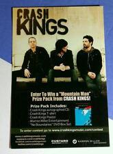 CRASH KINGS JET TOUR SCHEDULE BACK COLOR PHOTO 4X6 MUSIC POSTCARD Mini POSTER