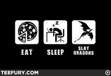 """""""Eat, Sleep, Slay Dragons"""" Teefury Shirt - Men's 2XL"""