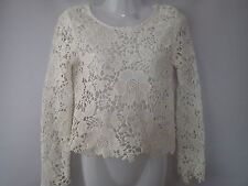 NICE H&M CREAM LACE LADIES WOMENS  TOP BLOUSE SIZE 6