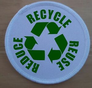 Recycle Save The Earth Extinction Rebellion sublimation patch badge
