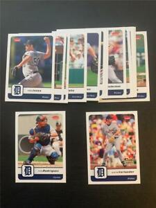 2006 Fleer Detroit Tigers Team Set 15 Cards With SP Justin Verlander