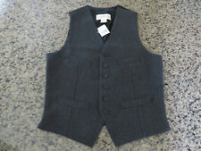 RALPH LAUREN Men's XS Vest Denim and Supply Gray Wool Blend