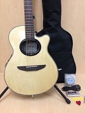 "38"" Caraya C-836CEQ/N Round-back Electro-Acoustic Guitar,EQ,Natural w/Free bag"