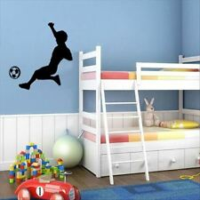 Huhome PVC Wall Stickers Wallpaper Silhouettes of children playing soccer boy do