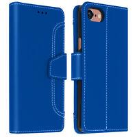 Housse iPhone 6 / 6S / 7 / 8 / SE 2020 Étui Portefeuille Fonction Support bleu