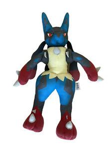 """Pokemon XY Mega Lucario 15"""" Training Plush Toy Tomy 2015 with sound. Collectible"""