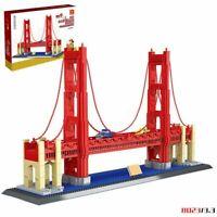 Golden Gate Bridge World Famous Landmarks Building Bricks Construction Blocks