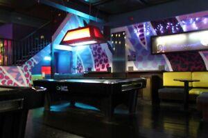 2nd Hand Ex Commercial 8FT Black Ash SAM K-Steel American Pool Table